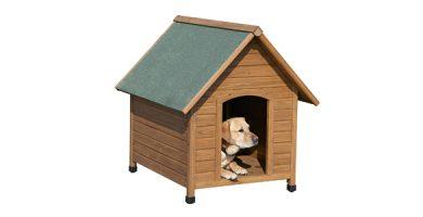 caseta perro madera barata